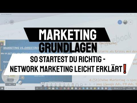 Marketing Grundlagen - So startest du richtig - Network Marketing leicht erklärt❗