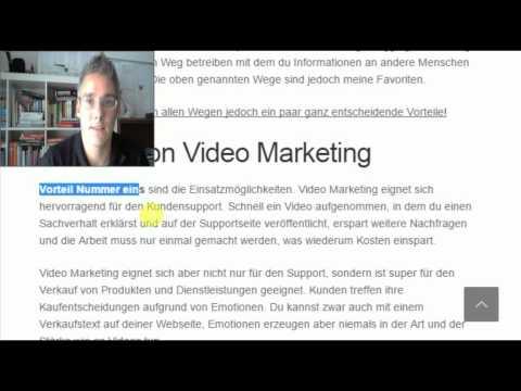 Mehr Erfolg im Business durch Videomarketing