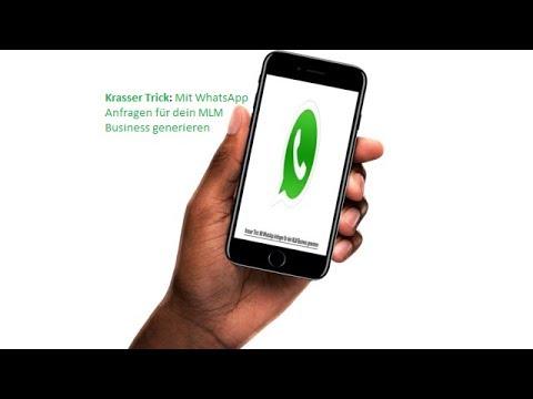 Krasser Trick: Mit WhatsApp Anfragen für dein MLM Business generieren