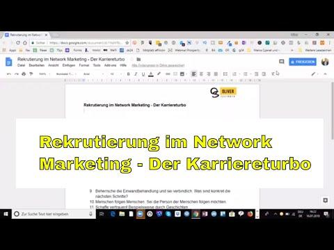 Rekrutierung im Network Marketing - Der Karriereturbo