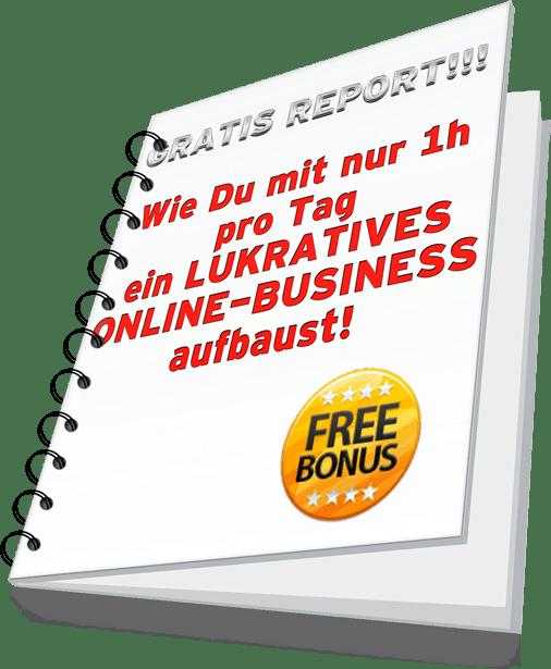 Gratis report online Business aufbauen