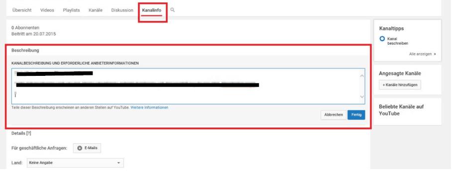 Youtube Kanäle Blockieren