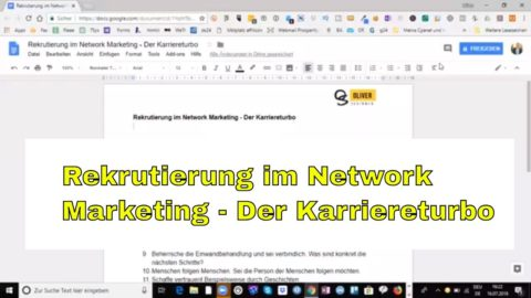 Rekrutierung im Network Marketing