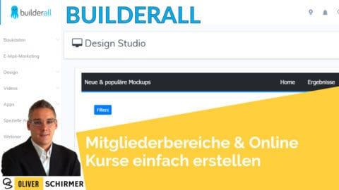 Mit builderall Mitgliederbereiche und online Kurse einfach erstellen