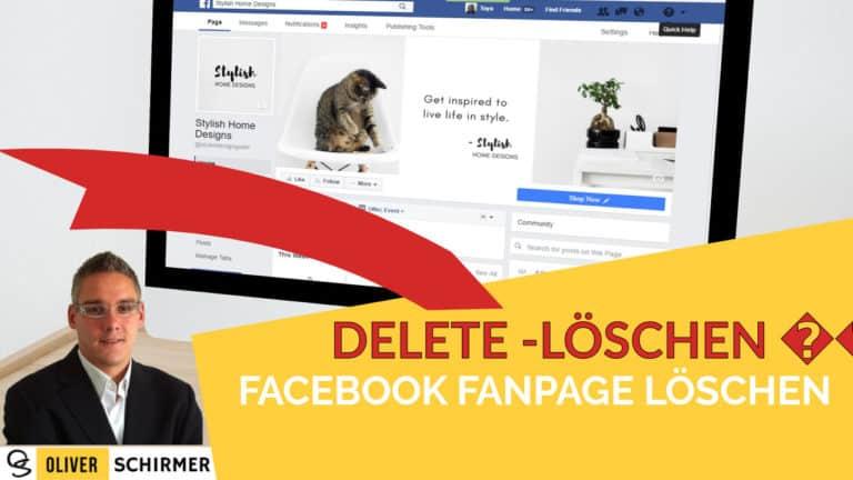 facebook fanpage löschen
