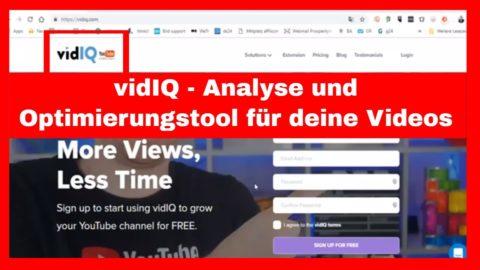 VidiQ – Youtube SEO mehr Klicks und Views auf deine Videos